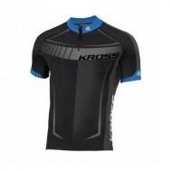 Tricou ciclism KROSS Black Edition albastru