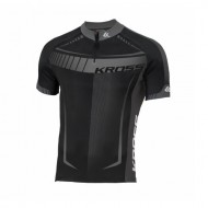 Tricou ciclism KROSS Black Edition gri