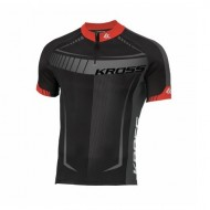Tricou ciclism KROSS Black Edition roșu