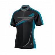 Tricou ciclism damă KROSS Lea albastru