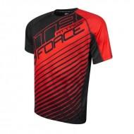 Tricou ciclism Force MTB Attack negru/rosu L