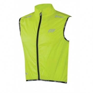 Vestă ciclism FORCE V48 Wide fluorescent mărimea L
