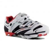 Pantofi de damă NORTHWAVE MTB Katana SRS negru-alb-roșu