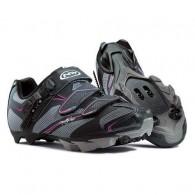 Pantofi de damă NORTHWAVE MTB Katana SRS negru-antracit-fucsia mărime 36
