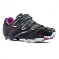 Pantofi de damă NORTHWAVE MTB Katana 3S negru-fucsia