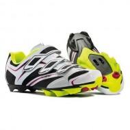 Pantofi de damă NORTHWAVE MTB Katana 3S alb-negru-galben mărime 38