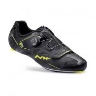 Pantofi NORTHWAVE Road Sonic 2 Plus negru-galben mărime 40,5