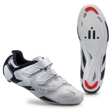 Pantofi NORTHWAVE Road Sonic 2 3S alb-negru mărime 45,5