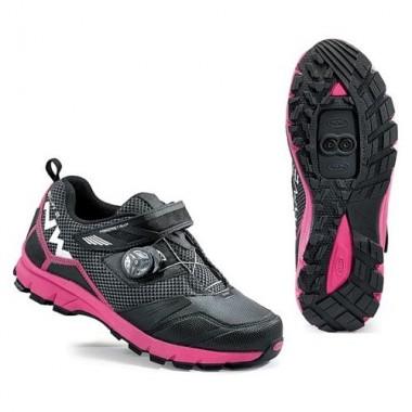 Pantofi de damă all terrain NORTHWAVE Mission Plus negru-fucsia