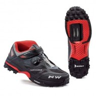 Pantofi all terrain NORTHWAVE Enduro Mid negru-roșu