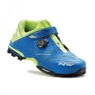 Pantofi all terrain NORTHWAVE Enduro Mid albastru-galben mărime 42