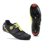 Pantofi NORTHWAVE Road Phantom Carbon negru-galben mărime 42