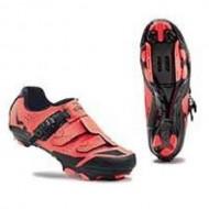 Pantofi de damă NORTHWAVE MTB Sparkle SRS portocaliu-negru