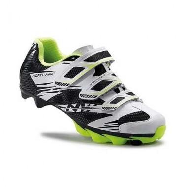 Pantofi de damă NORTHWAVE MTB Katana 2 3S alb-negru-galben