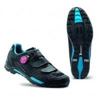 Pantofi de damă NORTHWAVE MTB Outcross Plus negru-turcoaz mărime 40