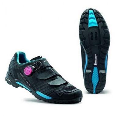 Pantofi de damă NORTHWAVE MTB Outcross Plus negru-turcoaz