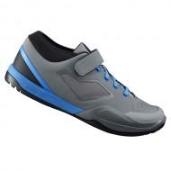 Pantofi SHIMANO SH-AM701 MTB gri/albastru mărime 43