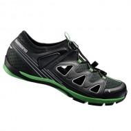 Pantofi SHIMANO SH-CT46 Click-R negru/verde mărime 43