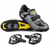 Pantofi SHIMANO SH-M163 Trail/Enduro Ediţie Specială 25 Ani + pedale PD-M530 mărime 44