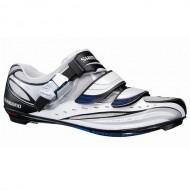 Pantofi SHIMANO SH-R190 Road alb/albastru/negru mărime 42