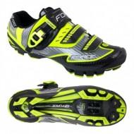 Pantofi FORCE MTB Carbon Devil negru-fluorescent mărime 40