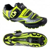 Pantofi FORCE MTB Carbon Devil negru-fluorescent mărime 42