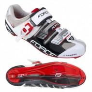Pantofi FORCE Road Carbon negru-alb mărime 40
