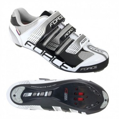 Pantofi FORCE Road negru-alb mărime 44
