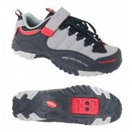 Pantofi FORCE Tourist Force negru-gri-roşu mărime 39