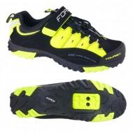 Pantofi FORCE Tourist Force negru-fluorescent mărime 38