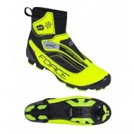 Pantofi FORCE MTB Ice Force negru-fluorescent mărime 41