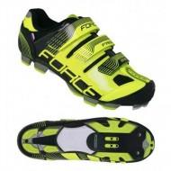 Pantofi FORCE MTB Free Force negru-fluorescent mărime 36