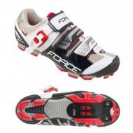 Pantofi FORCE MTB Hard Force negru-alb mărime 40