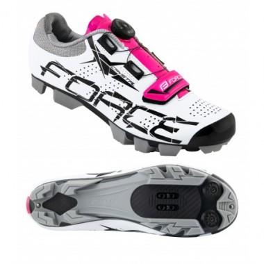 Pantofi FORCE MTB Crystal Dama alb-roz mărime 37