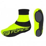 Husă protecţie pantofi FORCE Incision - fluorescent/negru mărime L-XL (44-48)