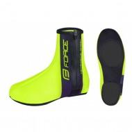 Husă protecţie pantofi FORCE Neopren Basic - fluorescent mărime L (42-44)