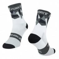 Șosete FORCE Triangle alb/negru/gri L-XL