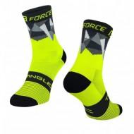 Șosete FORCE Triangle fluorescent/negru/gri L-XL