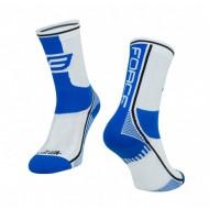 Șosete FORCE Long Plus albastru/alb/negru L-XL