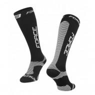 Șosete FORCE Athletic Pro Compress negru/alb L-XL