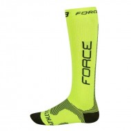 Șosete FORCE Athletic Compression fluo/negru S-M