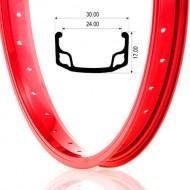 """Jantă BEFLY BMX Ace 20"""" - 36H roşu"""