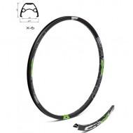 """Jantă dublă CROSSER X6 26"""" - 36H (559 mm) negru/verde"""