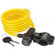 Lacăt M-WAVE 10x1800 mm - cu cheie galben