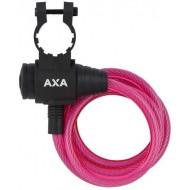 Lacăt AXA Zipp 8x1200 mm - cu cheie - roz