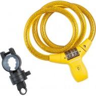 Lacăt KROSS 900x12 mm - cu cifru galben