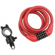 Lacăt KROSS 1200x12 mm - cu cifru roșu