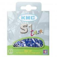 Lanț KMC S1 - 1 viteză albastru