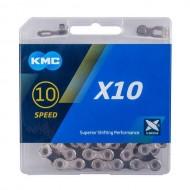 Lanț KMC X10 - 10 viteze argintiu/negru