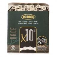 Lanț KMC X10 - 10 viteze argintiu